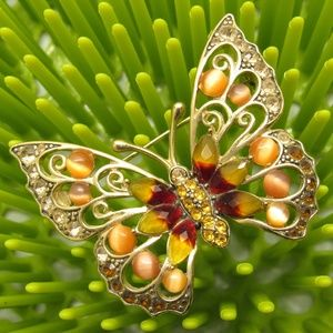 Vintage IC Butterfly Brooch